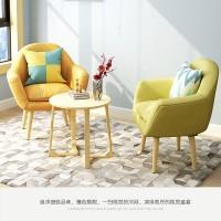 北欧单人懒人沙发阳台休闲椅小户型现代简约小沙发椅卧室客厅椅子