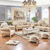 欧式真皮沙发组合