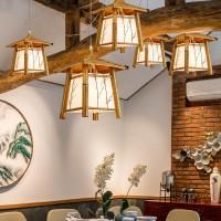竹灯竹编吊灯现代新中式餐厅灯