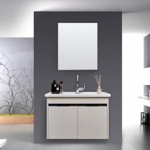 现代简约实木浴室柜组合洗面洗脸盆