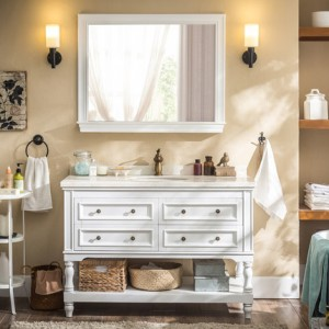 美式橡木浴室柜卫生间洗脸盆柜组合