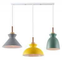北欧餐厅吊灯三头简约现代创意个性马卡龙饭厅吧台灯餐桌书房灯具